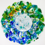 Vital Peeters Circular Fused Glass Sun Catcher